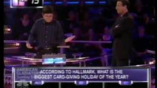 1 vs 100 -- Very First Millionaire win
