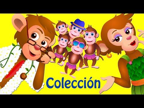 Cinco Monitos Saltando En La Cama   Canciones Infantiles Populares Colección   ChuChu TV