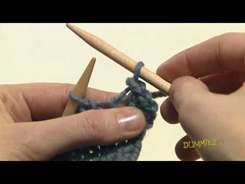 Casting Off Stitches For Knitting : How to Bind Off Your Knitting For Dummies - YouTube