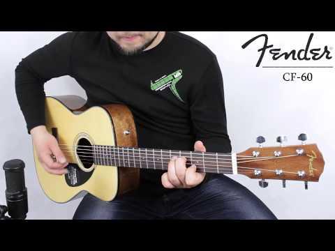 Fender CF-60 acoustic guitar :: Demo, Soundcheck
