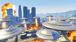UFO INVASION MOD! (GTA 5 Funny Moments)