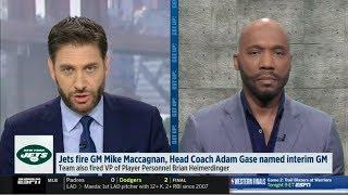ESPN GET UP | Louis Riddick REACT: Jets fire GM Mike Maccagnan, Coach Adam Gase named interim GM