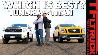 Drag Race and Flex Test! Toyota TRD Pro vs Nissan Titan (Gold Winch Ep.5)