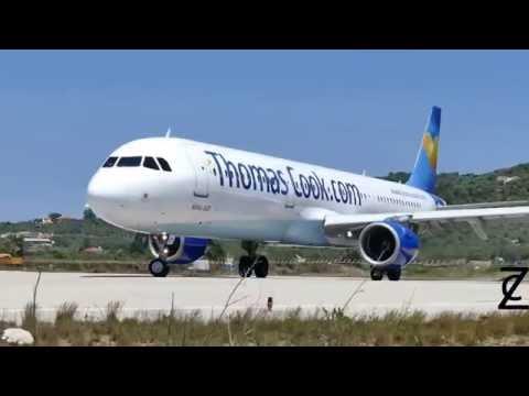 Захватывающие взлет и посадка самолета - подборка HD на острове сан мартин принцесса Юлианна Beach