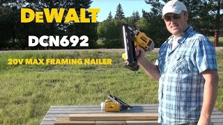 DeWalt DCN692 20 Volt Max Dual Speed Nail Gun Tool Review
