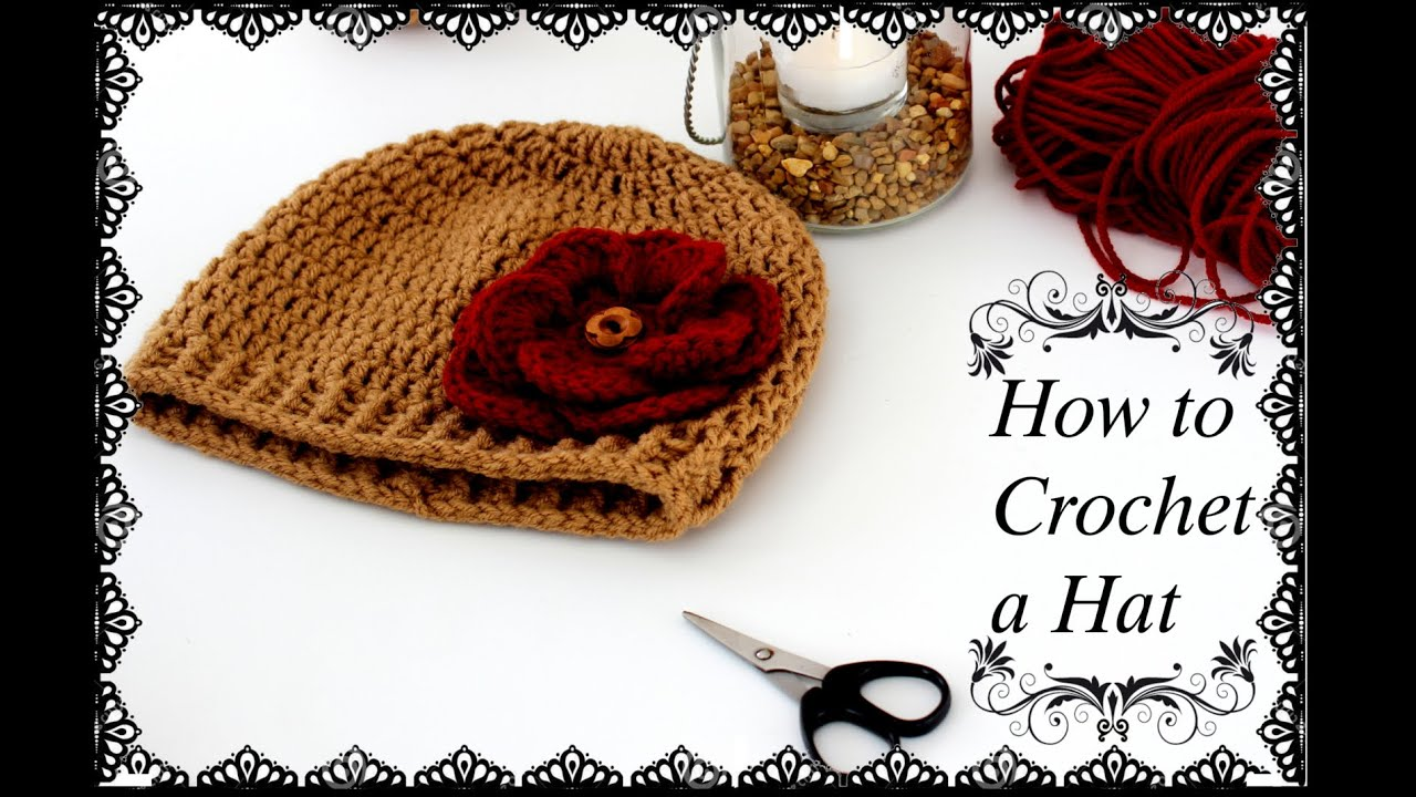 How to Crochet a Beanie Hat HD - YouTube