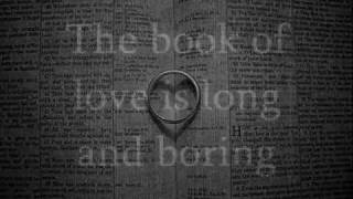 Book of Love - Peter Gabriel (Lyrics/Pictures)
