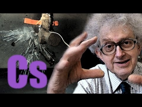 Caesium in Water (slow motion) - Periodic Table of Videos
