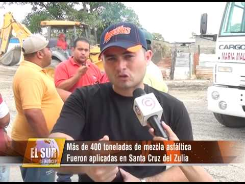 Más de 400 toneladas de mezcla asfáltica fueron aplicadas en Santa Cruz de Zulia
