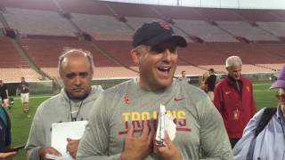 USC Football - Fall Camp #5: Clay Helton