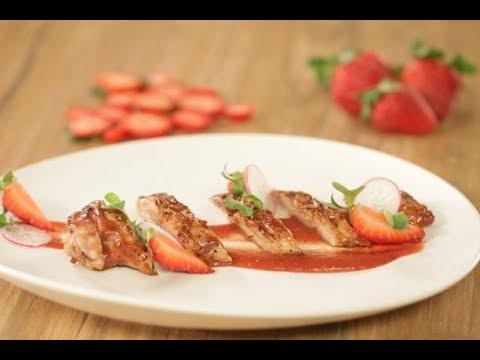 Strawberry Chicken | Valentine Special | Sanjeev Kapoor Khazana