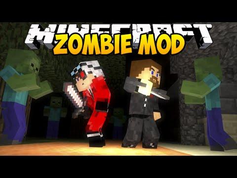 Minecraft Zombie Mod - Евгеха с огнеметом - Mini-game