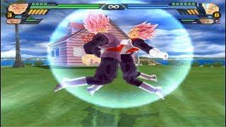 Dragon Ball Z Budokai Tenkaichi 3 - Black Goku SSJ Rose And Black Vegeta SSJ Rose   Fusion (MOD) PS2