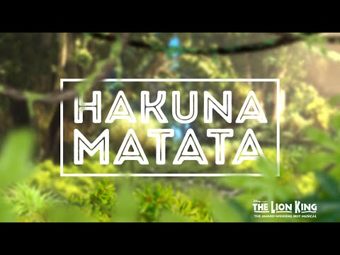 Hakuna Matata - Disney's THE LION KING (Official Lyric Video)