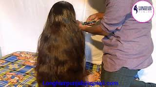 LHPB Rapunzel Veronika Heavy Hair Oiling Bed On Male,,, With Healthy Hair