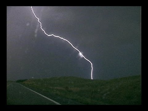 Stock footage of lightning during the overnight hours