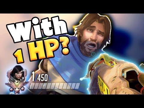 INSANE 1 HP PHARAH WIN!! - Overwatch 1 HP Moments