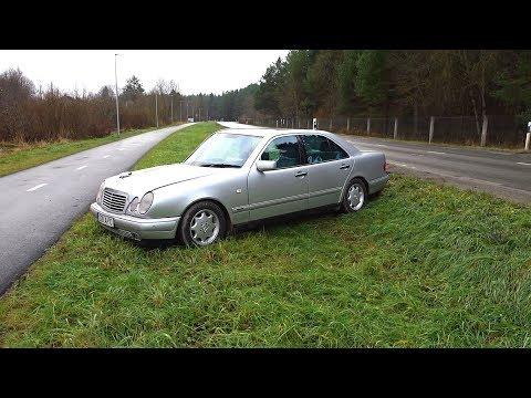 Я разбил машину Mercedes W210 I crashed my car