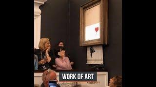 Banksy shocks art world by shredding $1.4 million work at auction