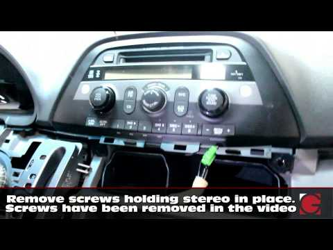 How to remove stereo & install GROM iPhone USB Bluetooth Kit Honda Odyssey 2005 2006 2007 2008