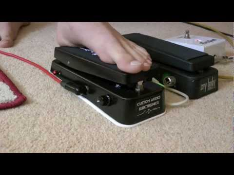 Custom Audio Electronics MC404 vs Dunlop 535Q Wah Demonstration Part 1 HD
