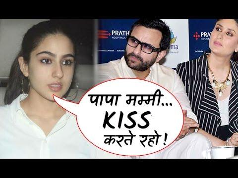 What Sara advice Kareena-Saif on their No-Kissing Policy ?