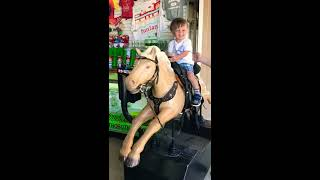 Funny baby - Winyuchannel #45 - Riding a horse!!!