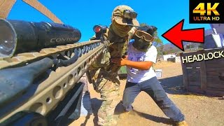 Airsoft Game Becomes Physical