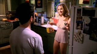 Sarah and Morgan Orange Juice Scene