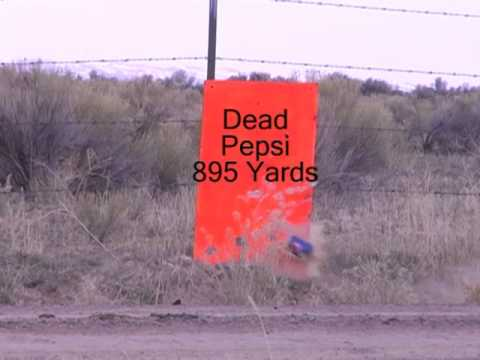 Long Range Shooting - Long range 895 yard shot at pepsi can.
