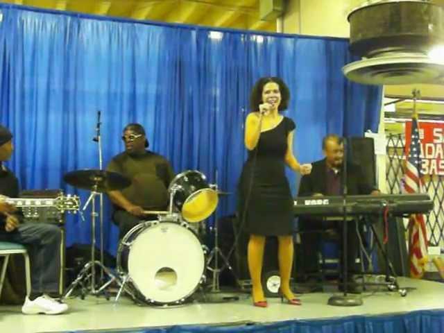 Natasha DaVias singing Whitney Houston's Saving all my love for you