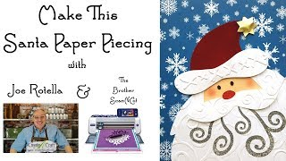 Santa Paper Piecing Embellishment - Brother ScanNCut Free Download Dec 2017