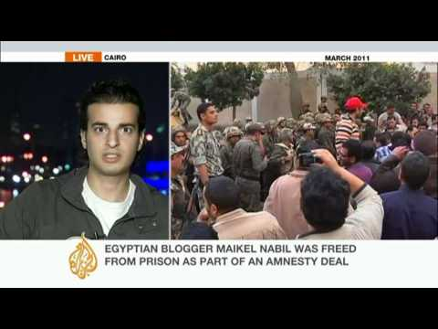 Egyptian anti-military activist Maikel Nabil rejects pardon