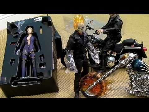 Hot Toys GHOST RIDER & Resident Evil BATTLE SUIT JILL VALENTINE unboxing