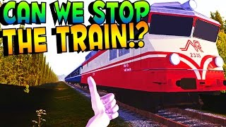 FUN TRAIN UPDATE! CAN WE STOP THE TRAIN? | Lets Play My Summer Car Gameplay #8 (Kid Friendly Gaming)