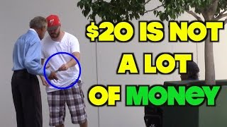 The Most Grateful Homeless Man Ever! Will Make You Cry | OmarGoshTV