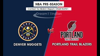 Denver Nuggets vs Portland Trail Blazers  Full Game Extended  Highlights 2019 NBA Preseason