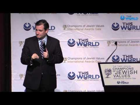 Senator Ted Cruz's speech at the World Values Gala and receiving the award