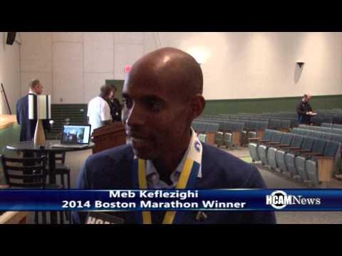 2014 Boston Marathon Winner Meb Keflezighi Visits Hopkinton