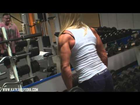 Katka Kyptova - biceps workout (February 2011)