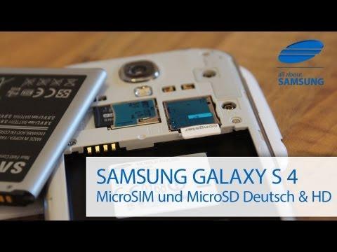 Samsung Galaxy S4 microSIM / SIM & MicroSD Karte