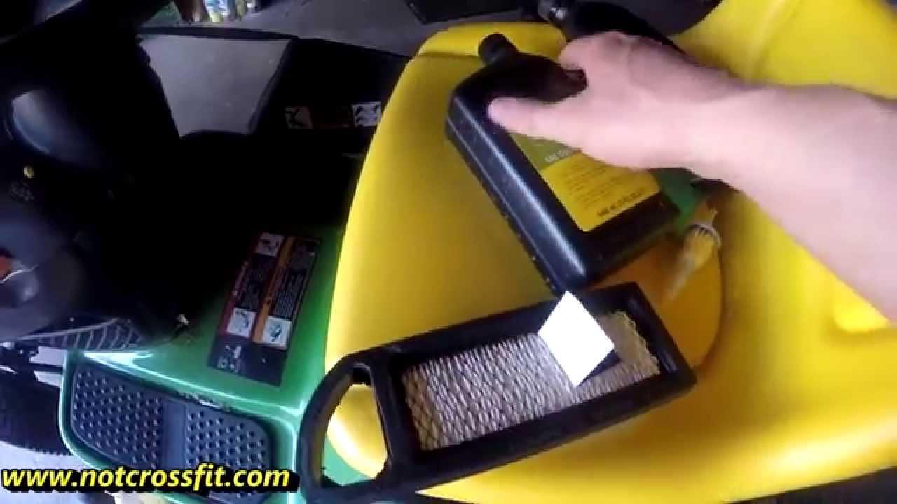 John Deere L100 Oil Change Air