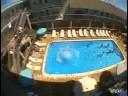 Epic Balcony Leap Into Pool