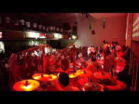 Risen - Filadelfia all star Easter drummer view
