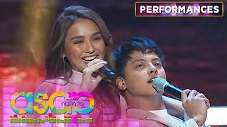 "Kathryn and Daniel perform a duet of ""Yakap Sa Dilim"" in the Bay Area 