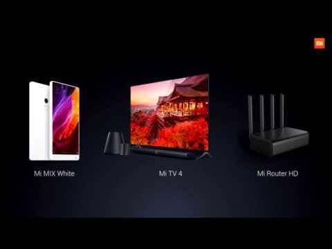 CES 2017: Xiaomi Mi MIX White, Mi Router HD, Mi TV 4