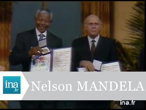 nelson mandela et frederik de klerk prix nobel de la paix archive vid o ina youtube. Black Bedroom Furniture Sets. Home Design Ideas