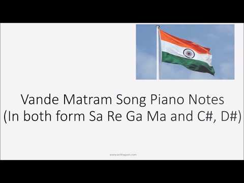 Vande Mataram Piano Notes song Easy Hindi With Sa Re Ga Ma | Piano Tutorial
