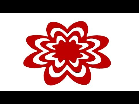 Paper Cutting/How to make paper cutting design Flowers?21-kirigami instructions step by step.