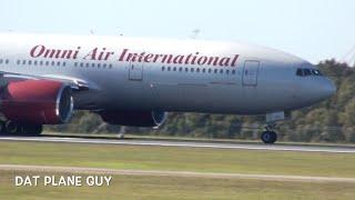 Rare Omni Air International 777-222ER Takeoff from Brisbane Airport